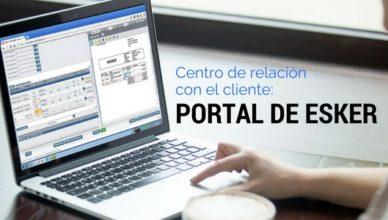 centro de relacion con el cliente. Portal Esker